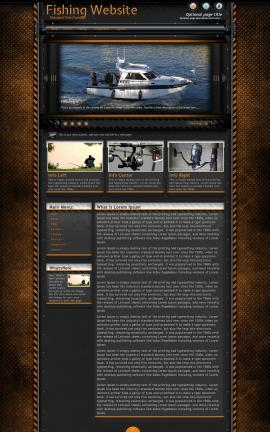 Gridlock Fishing Website Template