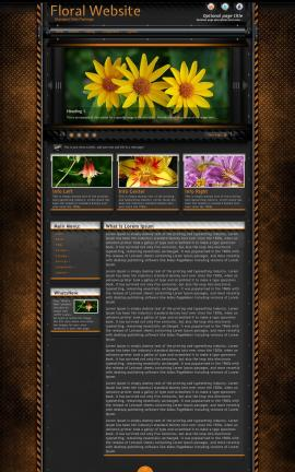 Gridlock Floral Website Template