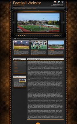 Gridlock Football Website Template