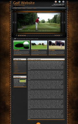 Gridlock Golf Website Template