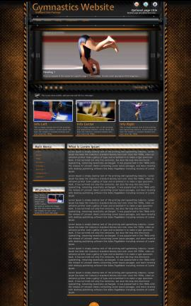 Gridlock Gymnastics Website Template