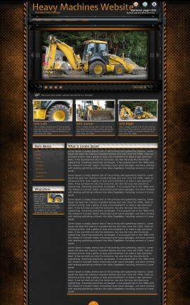 Gridlock Heavy-machines Website Template