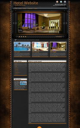 Gridlock Hotel Website Template