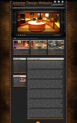 Gridlock Interior-design Website Template