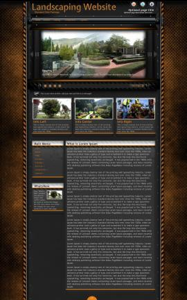 Gridlock Landscaping Website Template