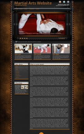 Gridlock Martial-arts Website Template