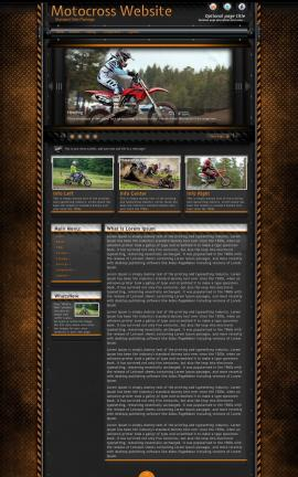 Gridlock Motocross Website Template