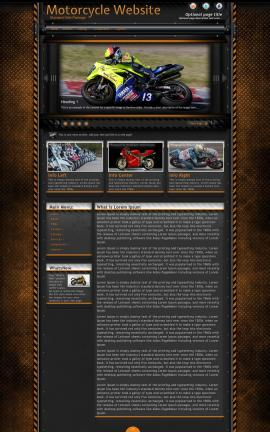 Gridlock Motorcycle Website Template