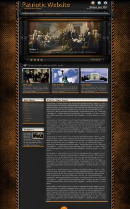 Gridlock Patriotic Website Template