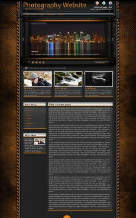 Gridlock Photography Website Template