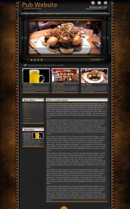 Gridlock Pub Website Template