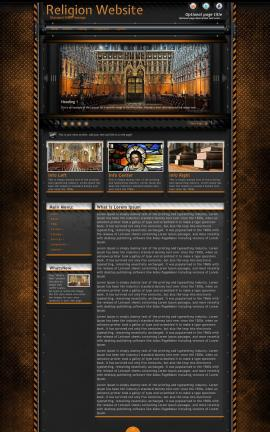 Gridlock Religion Web Template
