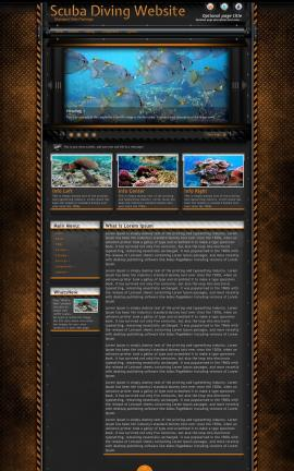 Gridlock Scuba-diving Website Template