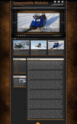 Gridlock Snowmobile Website Template