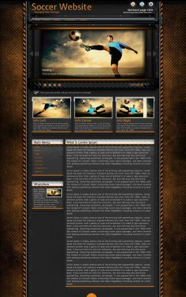Gridlock Soccer Website Template