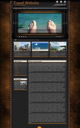Gridlock Travel Website Template