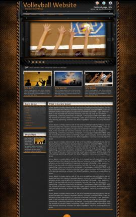 Gridlock Volleyball Website Template