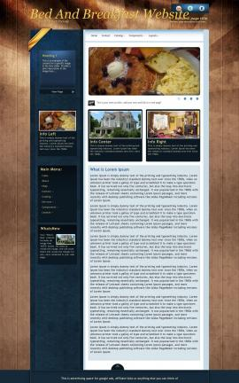 Daytimer Bed-and-breakfast Website Template