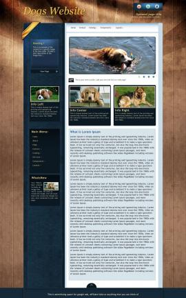 Daytimer Dogs Website Template