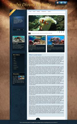 Daytimer Scuba-diving Website Template