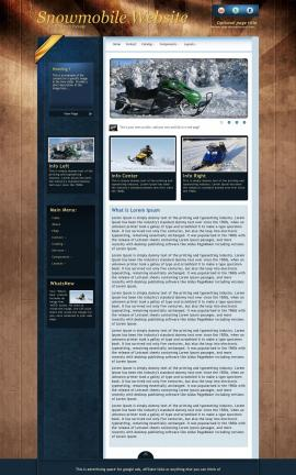 Daytimer Snowmobile Website Template