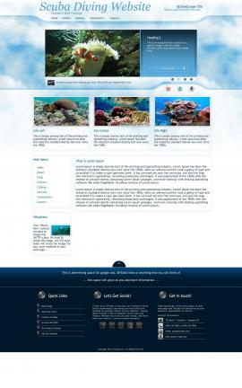 Ambiance Scuba-diving Website Template