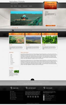 Dashboard Agriculture Website Template