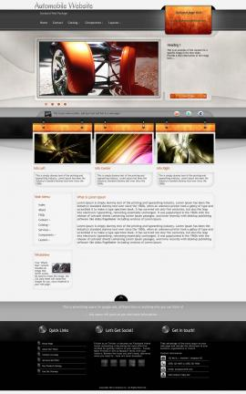 Dashboard Automobile Dreamweaver Template