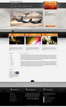 Dashboard Aviation Dreamweaver Template