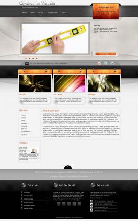 Dashboard Construction Website Template