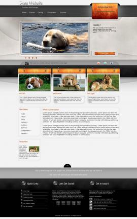 Dashboard Dogs Website Template