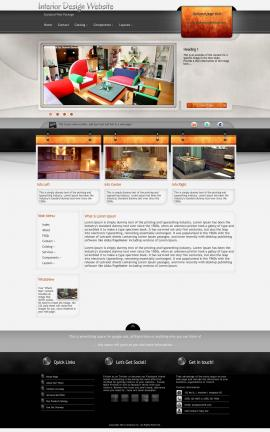 Dashboard Interior-design Website Template