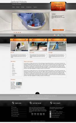Dashboard Janitorial Website Template