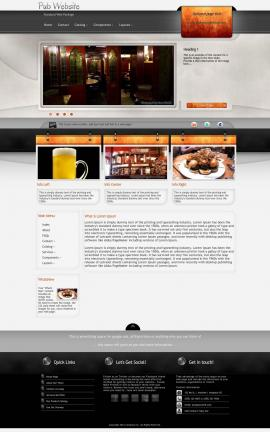 Dashboard Pub Website Template