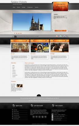Dashboard Religion Web Template