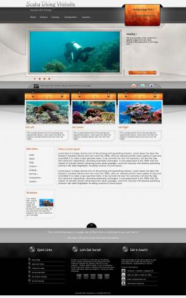 Dashboard Scuba-diving Website Template