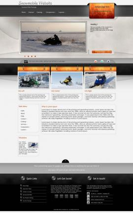 Dashboard Snowmobile Website Template