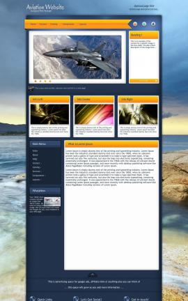 Aura Aviation Dreamweaver Template