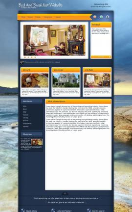 Aura Bed-and-breakfast Website Template