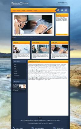 Aura Business Dreamweaver Template