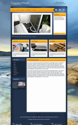 Aura Computers Website Template