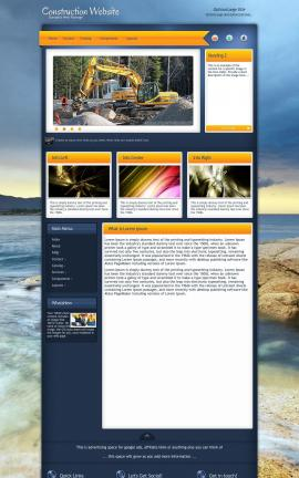 Aura Construction Website Template