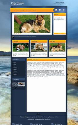 Aura Dogs Website Template