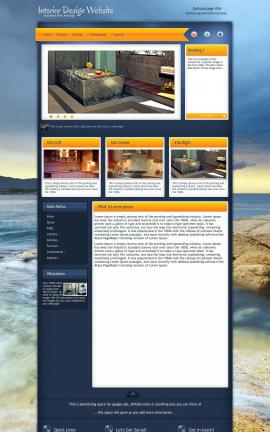 Aura Interior-design Website Template