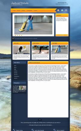 Aura Janitorial Website Template