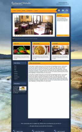 Aura Restaurant Website Template