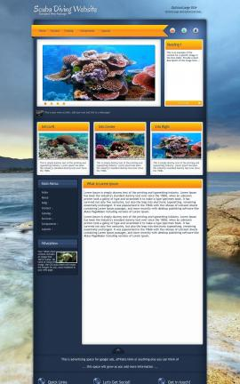 Aura Scuba-diving Website Template