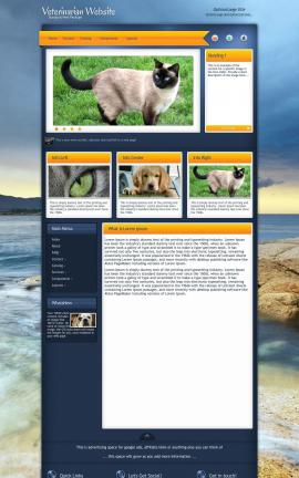 Aura Veterinarian Website Template
