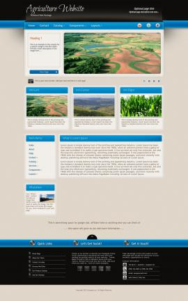 Promotion Agriculture Website Template