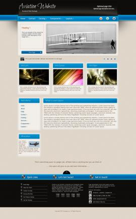 Promotion Aviation Dreamweaver Template